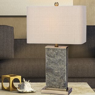 Read Reviews Bellingham Stone & Metal 26 Table Lamp By George Oliver