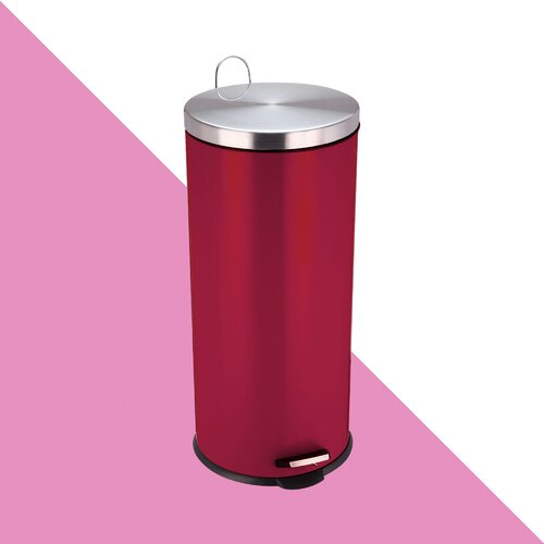 Stainless Steel 30 Litre Kitchen Rubbish Bin Hashtag Home Fi