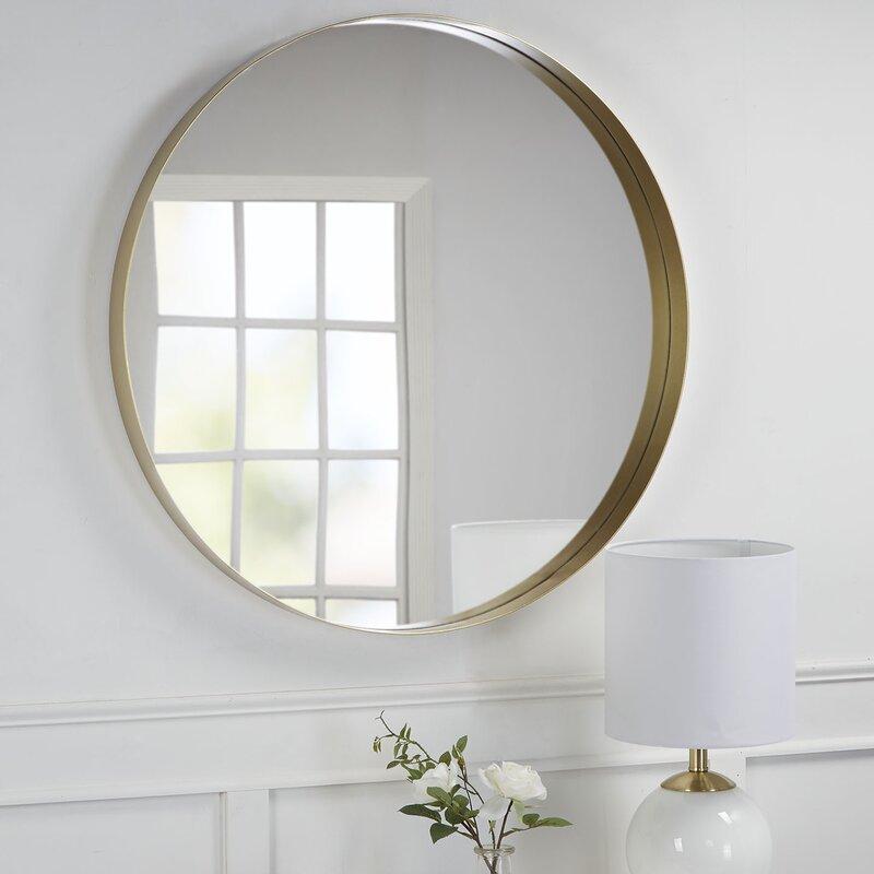 Orren Ellis Golightly Round Wall Mirror & Reviews | Wayfair.ca