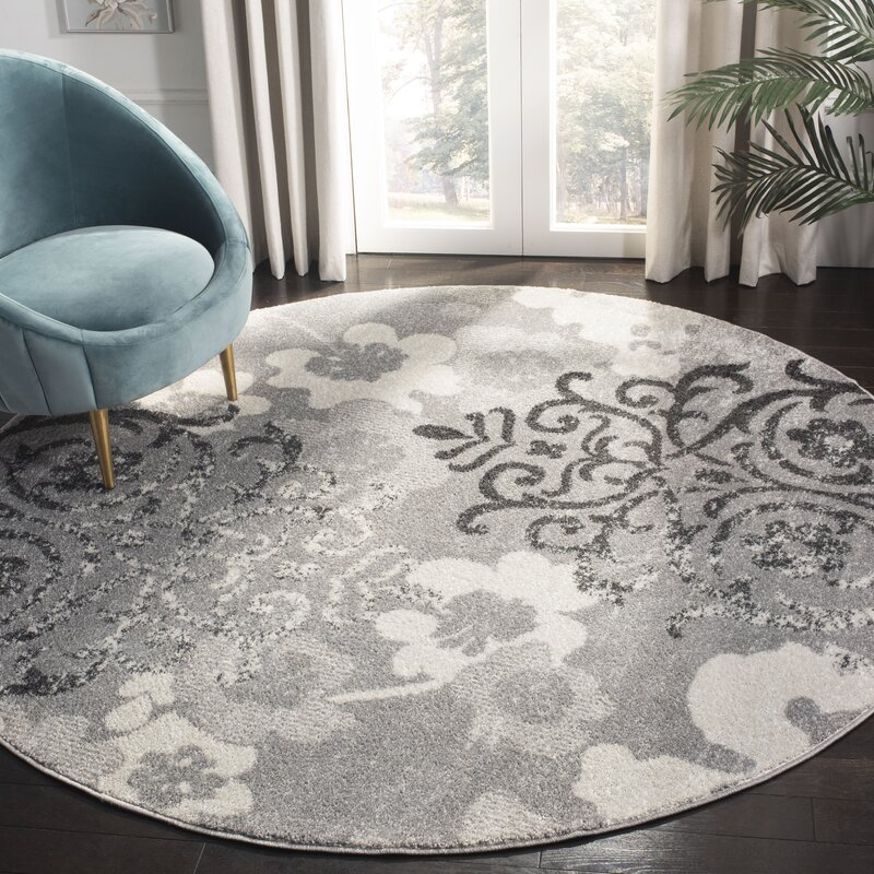 Willa Arlo Interiors Frizzell Silver Ivory Area Rug