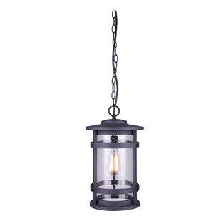 Best Reviews Wilhite 1-Light Outdoor Hanging Lantern By Breakwater Bay