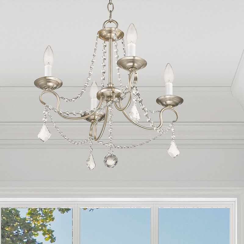 Willa Arlo Interiors Devana 4 Light Candle Style Classic Traditional Chandelier Reviews Wayfair
