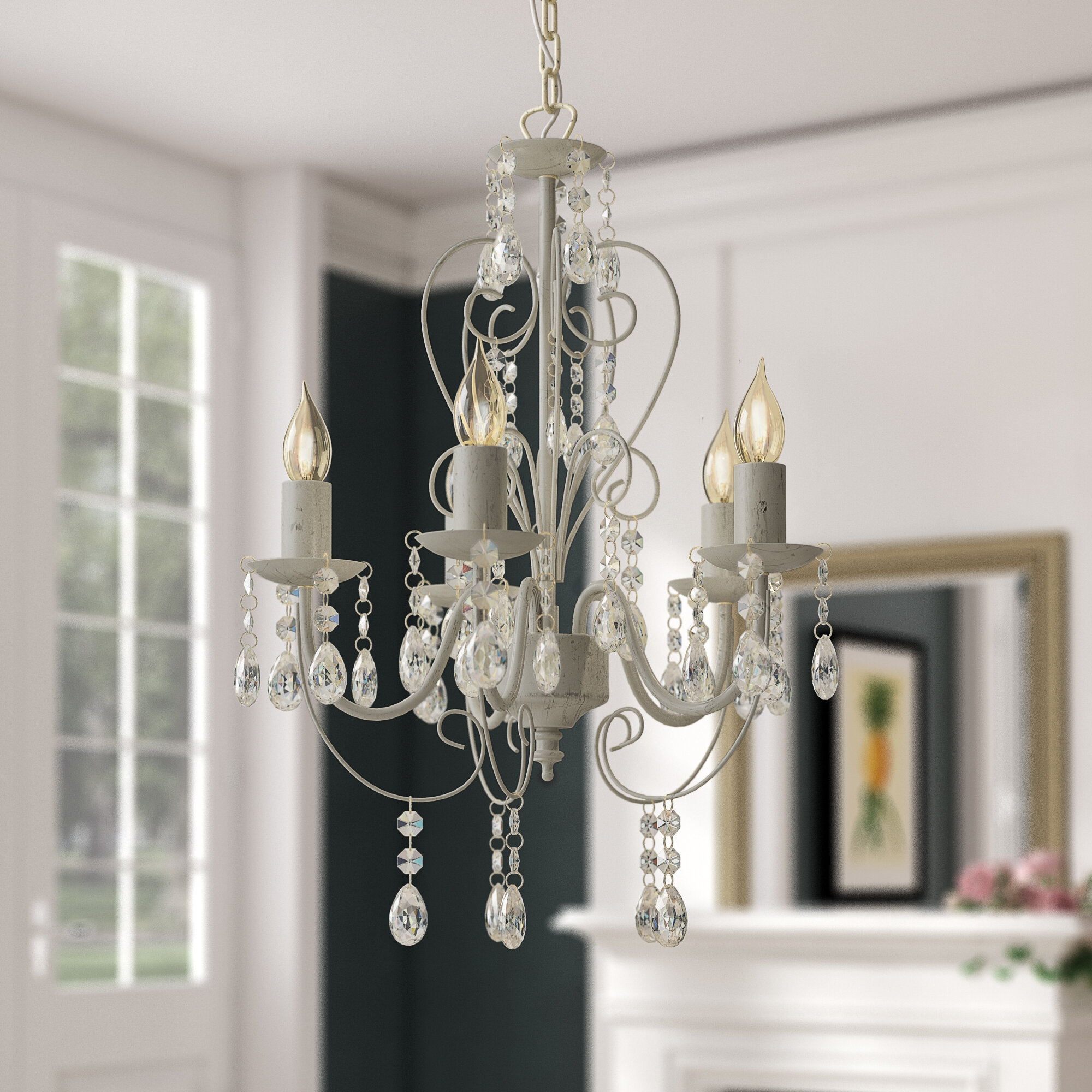 Lille 5 Light Candle Style Chandelier