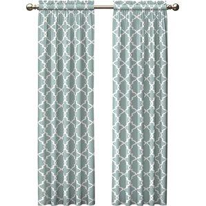 Amazing Kaiser Geometric Semi Sheer Rod Pocket Curtain Panels (Set Of 2)