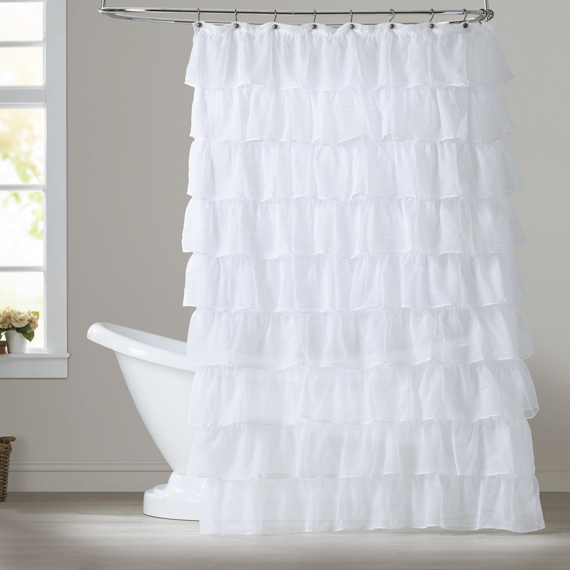 Atia Voile Ruffled Tier Single Shower