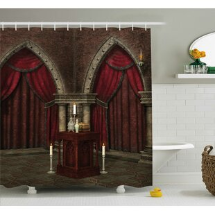 Gothic House Mysterious Dark Room Shower Curtain By Ambesonne