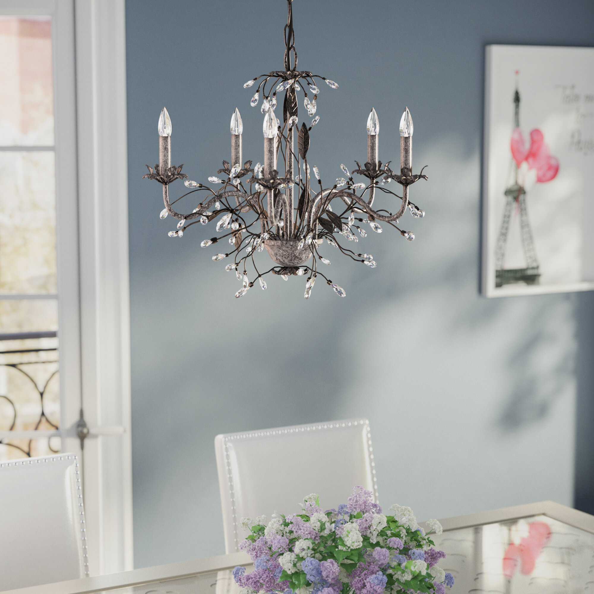 House Of Hampton 5 Light Candle Style Chandelier Amp Reviews