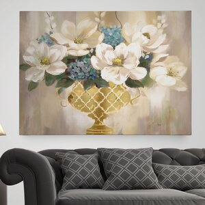'Southern Magnolia' Painting Print on Wrapped Canvas by Wexford Home