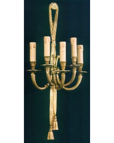 Baughman 5-Light Candle Wall Light Astoria Grand
