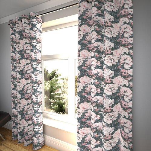 Ethridge Eyelet Blackout Thermal Curtains Fleur De Lis Livin