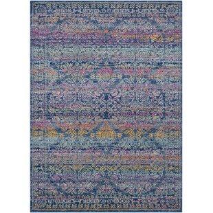 Arteaga Persian Traditional Oriental Blue Purple Area Rug