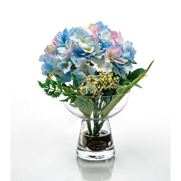 Red Vanilla Hydrangeas Floral Centerpiece In Vase Reviews Wayfair