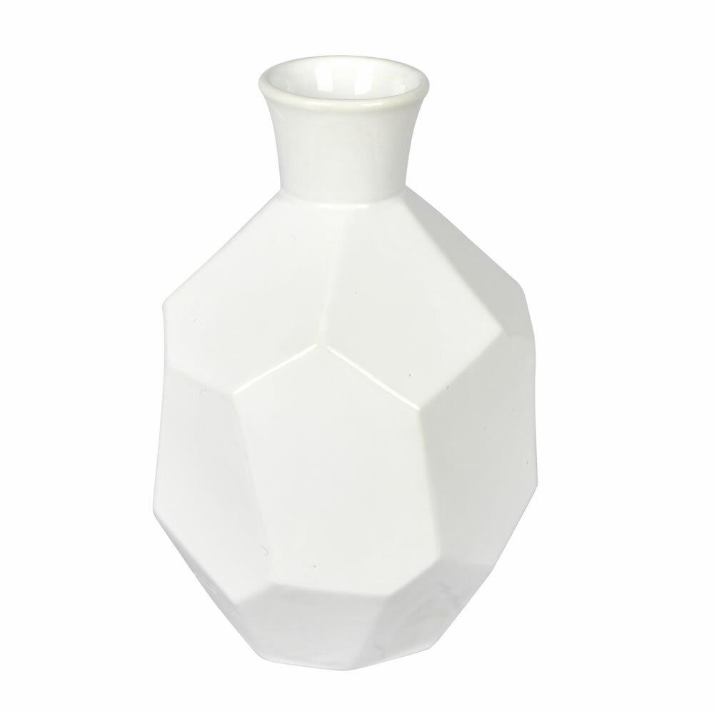 Wrought Studio Arvin Ceramic Geometric Table Vase Reviews Wayfair