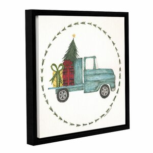 'Happy Holidays' Framed Painting Print on Wrapped Canvas