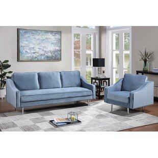 Jered 2 Piece Velvet Living Room Set by George Oliver