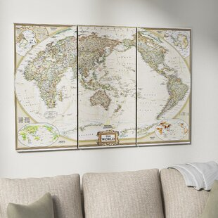 World map wall art national geographic world map graphic art print multi piece image on wrapped canvas gumiabroncs Choice Image