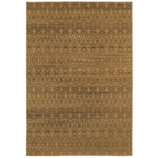 Luciano Beige/Black Area Rug ByBungalow Rose