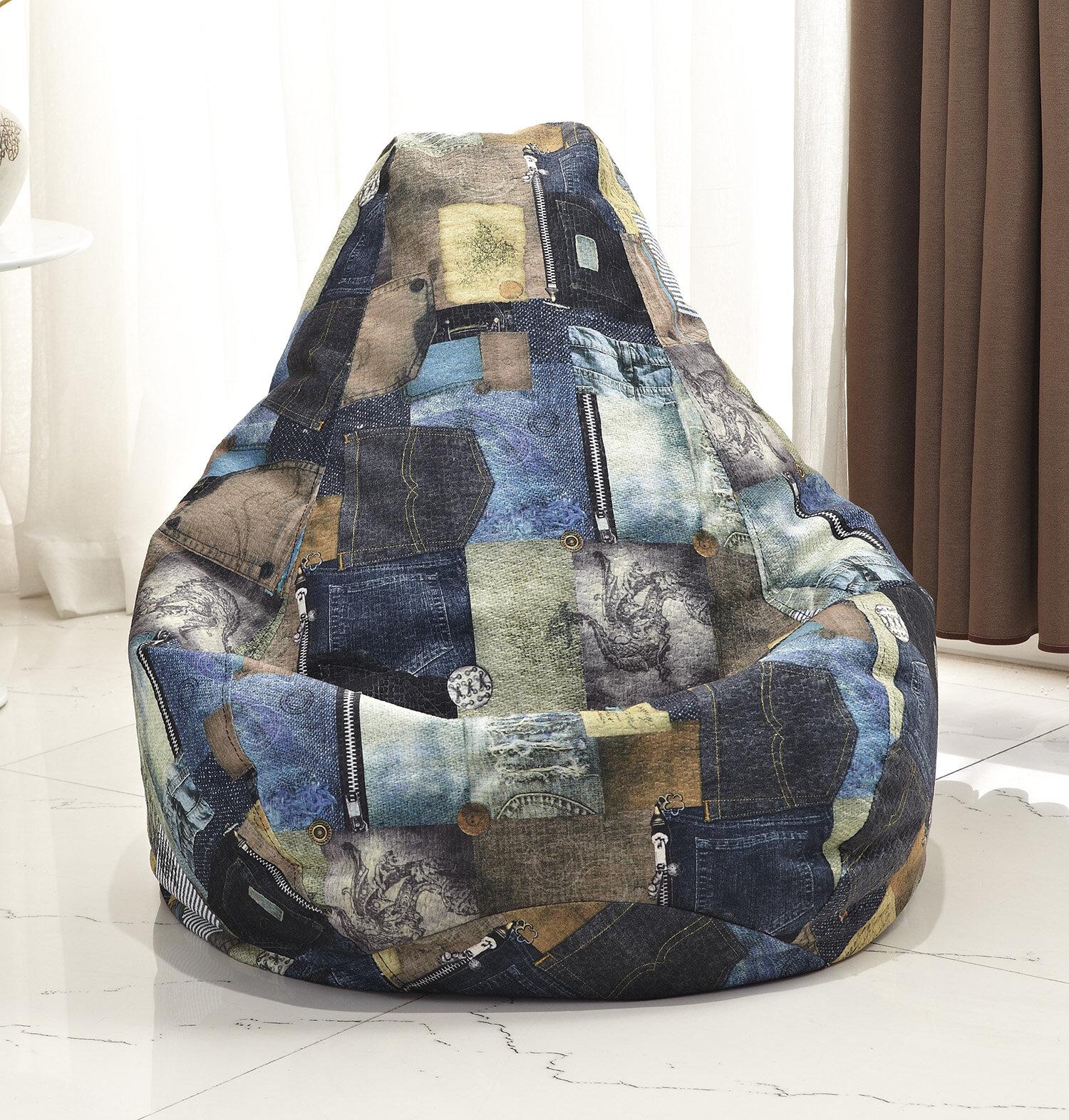 Awe Inspiring Latitude Run Print Bean Bag Chair Reviews Wayfair Lamtechconsult Wood Chair Design Ideas Lamtechconsultcom