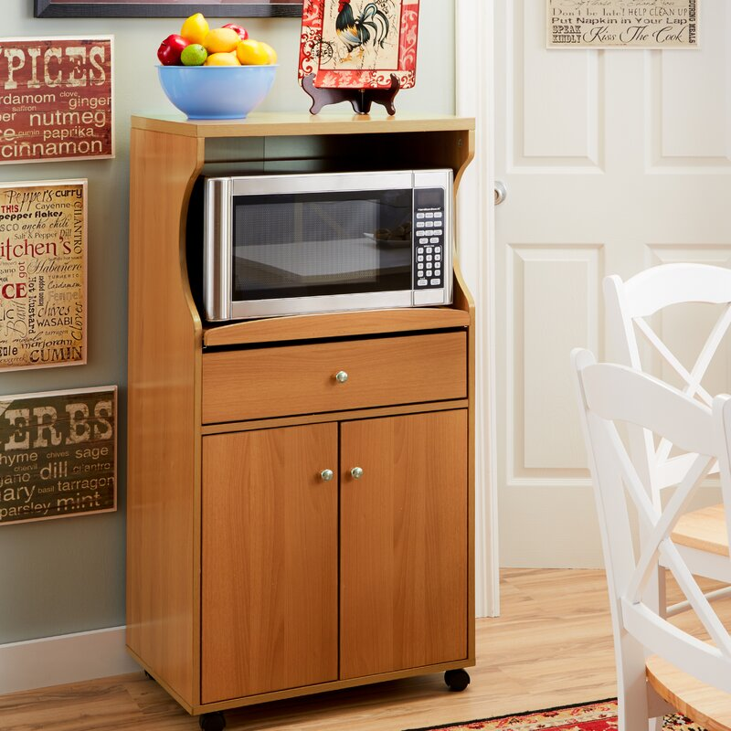 Microwave Carts & Stands You'll Love | Wayfair
