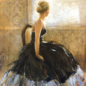 'Girl in Dress' Painting Print on Wrapped Canvas by Willa Arlo Interiors