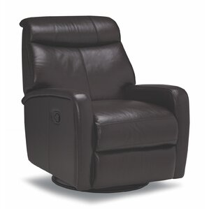Howie Leather Manual Swivel Recliner by Sofas to Go