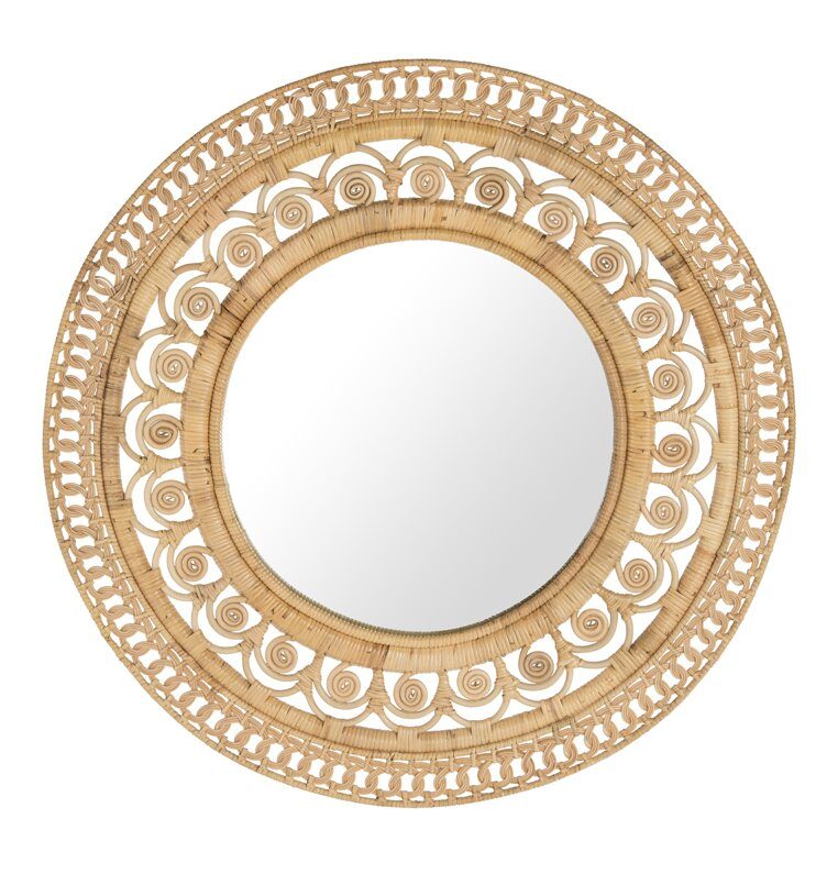 Peacock Round Decorative Accent Mirror. Boho style living room home decor essentials. How to decorate your boho style living room.