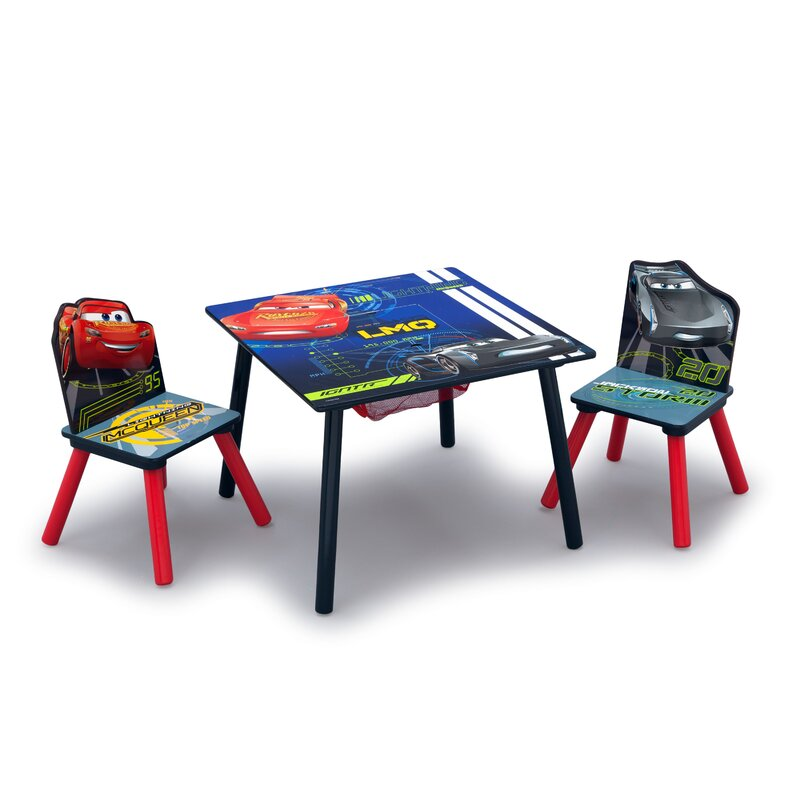 Delta Children Disney/Pixar Cars Kids 3 Piece Square Table and Chair ...