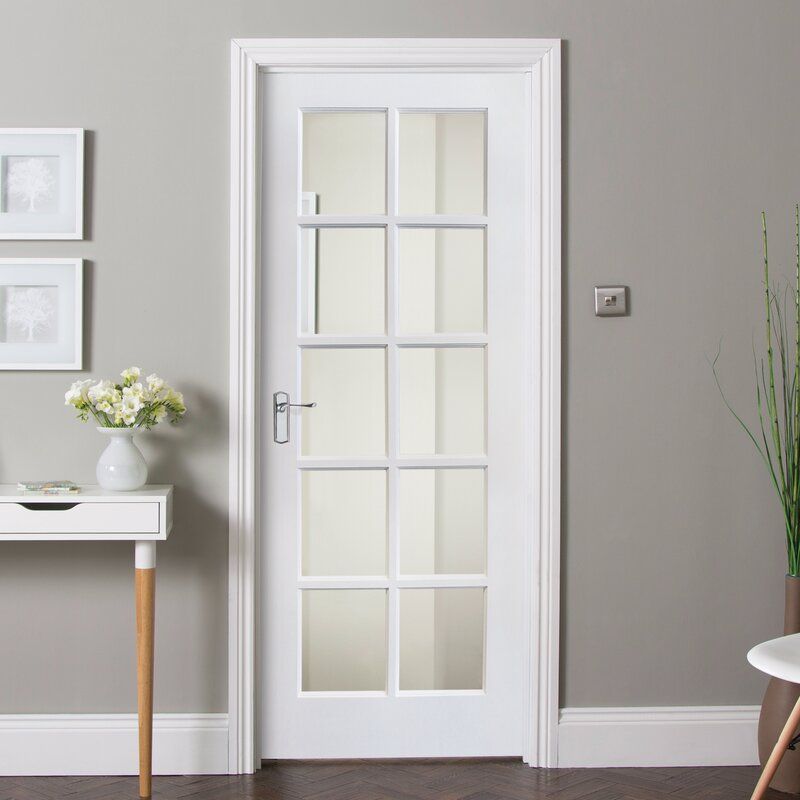 Shaker Solid MDF Glazed Slab Internal Door