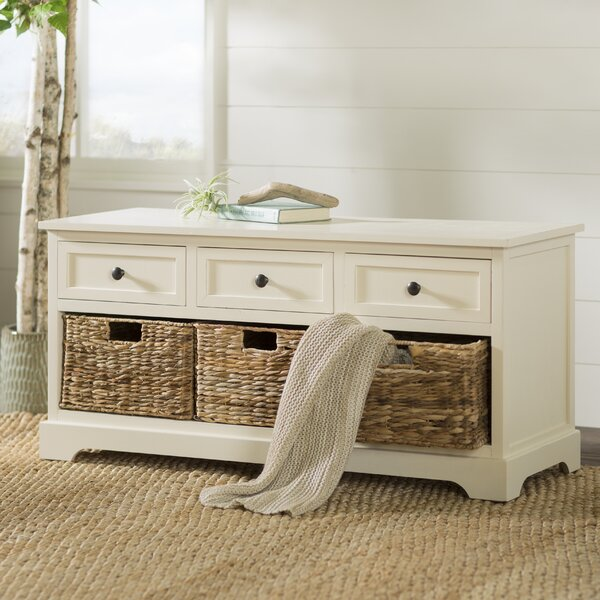 Beachcrest Home Ardina Wood Storage Bench U0026 Reviews | Wayfair