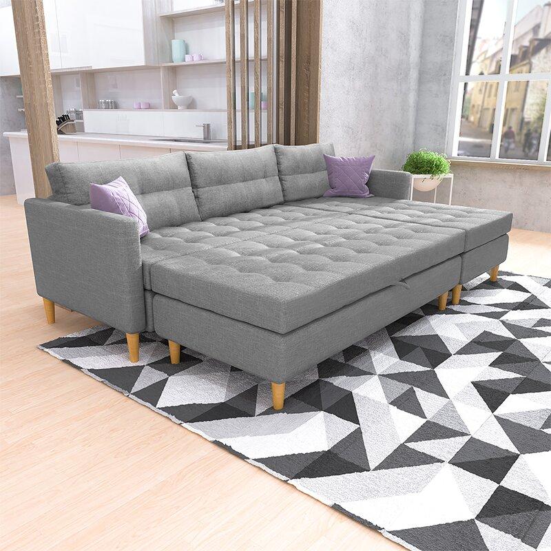 Copenhagen Reversible Modular Corner Sofa Bed
