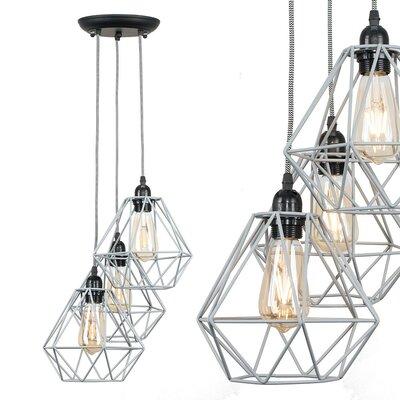 Glühlampen-Pendelleuchte 3-flammig Wesneski | Lampen > Leuchtmittel > Mehr-Leuchtmittel | 17 Stories
