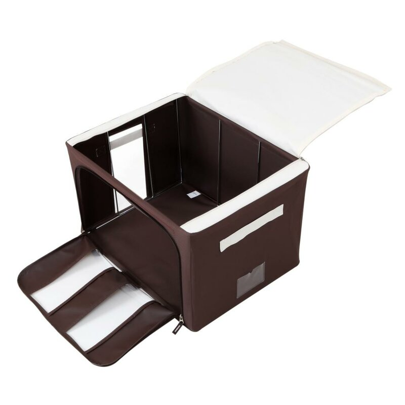 Delicieux Collapsible Storage Bin With Handles