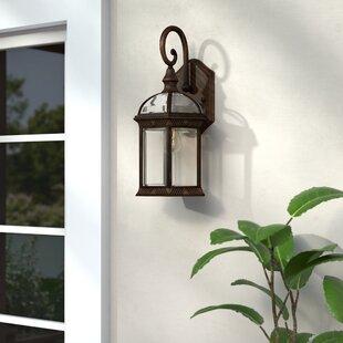Best Reviews Fairbank 1-Light Outdoor Wall Lantern By Three Posts