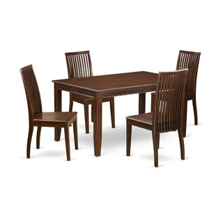Araminta 5 Piece Solid Wood Dining Set By Alcott Hill