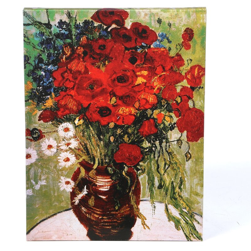Vincent van Gogh /'Dasies and Poppies/' Wrapped Canvas  Small