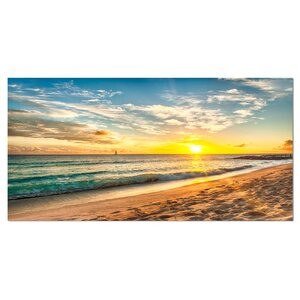 White Beach in Island of Barbados Photographic Print on Wrapped Canvas by Design Art