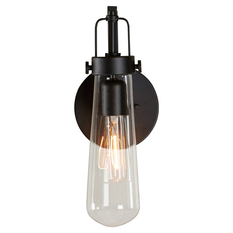 Industrial farmhouse style 1-Light Armed Sconce