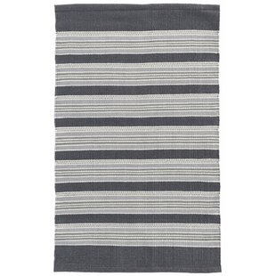 Akono Hand-Woven Gray Indoor/Outdoor Area Rug by Dash and Albert Rugs