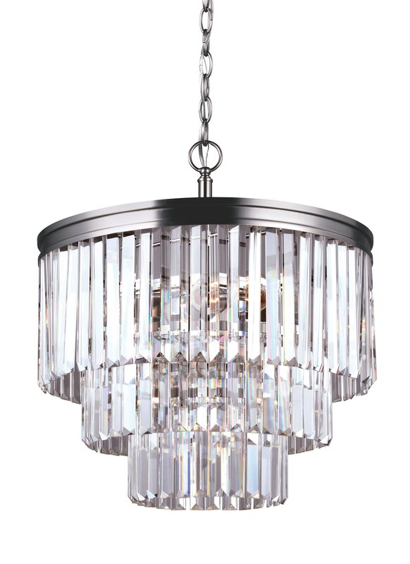 Domenique traditional 4 light crystal chandelier reviews allmodern domenique traditional 4 light crystal chandelier aloadofball Gallery