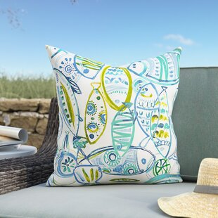 Bracken Guppy Outdoor Throw Pillow By Highland Dunes