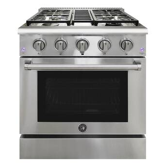 Nxr Professional Ranges 30 4 5 Cu Ft Freestanding Gas Range With Range Hood Wayfair