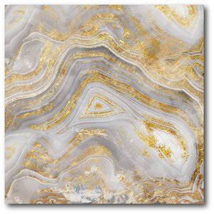 'Golden Agate' Painting Print on Wrapped Canvas by Courtside Market