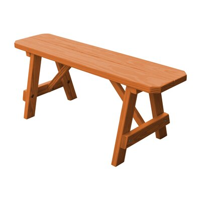 Springport Wood Picnic Bench Loon Peak Color: Cedar Stain