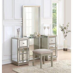 Awesome Claybrooks Storage Vanity Set With Mirror