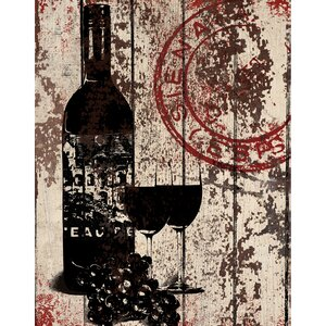 'SS - Grape Wine' Painting Print on Wrapped Canvas by Portfolio Canvas Decor