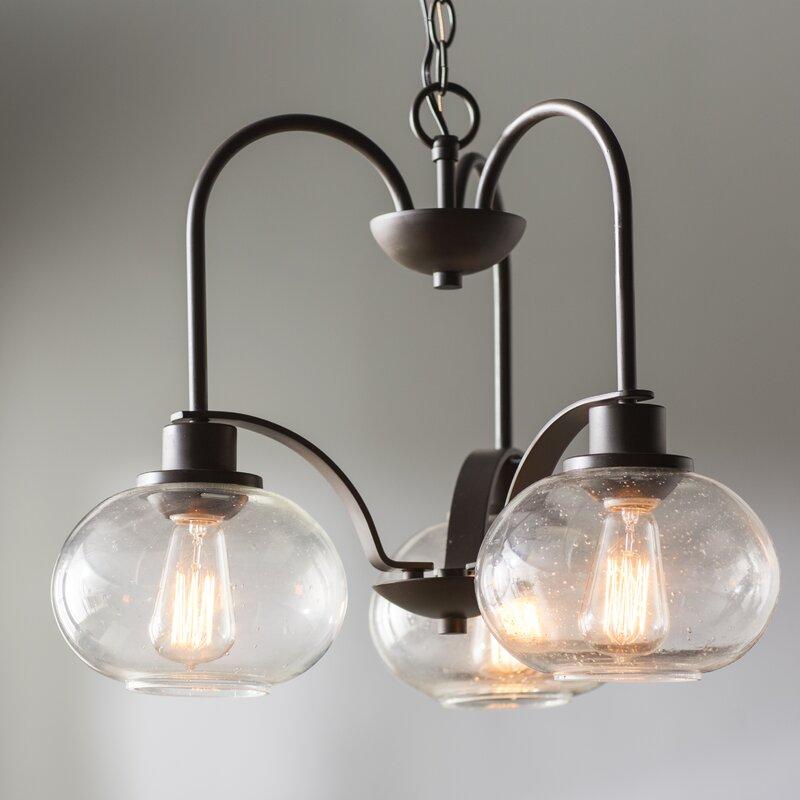 Braxton 3-Light Shaded Chandelier