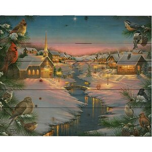 'A Silent Night (Christmas)' by Abraham Hunter Painting Print on Plaque by Hadley House Co