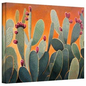 'Cactus Orange' Painting Print on Canvas by Zipcode Design