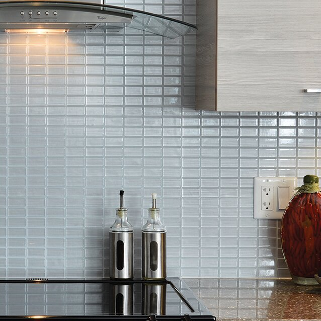 Smart Tiles Mosaik Stainless 10 61 X L Stick Wall Tile In Silver Gray Reviews Wayfair