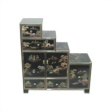 Chinese Step Tansu Cabinet by Oriental Furniture